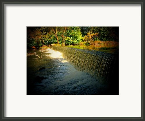 Indiana Waterfall Framed Print By Joyce L Kimble