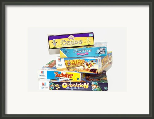 Indoor Games Framed Print By Johnny Greig