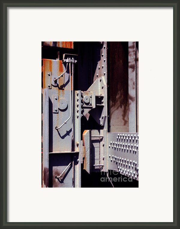 Industrial Background Framed Print By Carlos Caetano