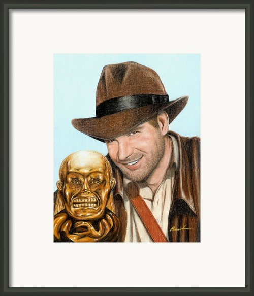 Indy Framed Print By Bruce Lennon
