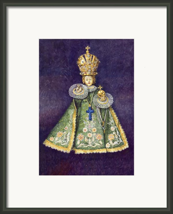 Infant Jesus Of Prague Framed Print By Yuriy  Shevchuk