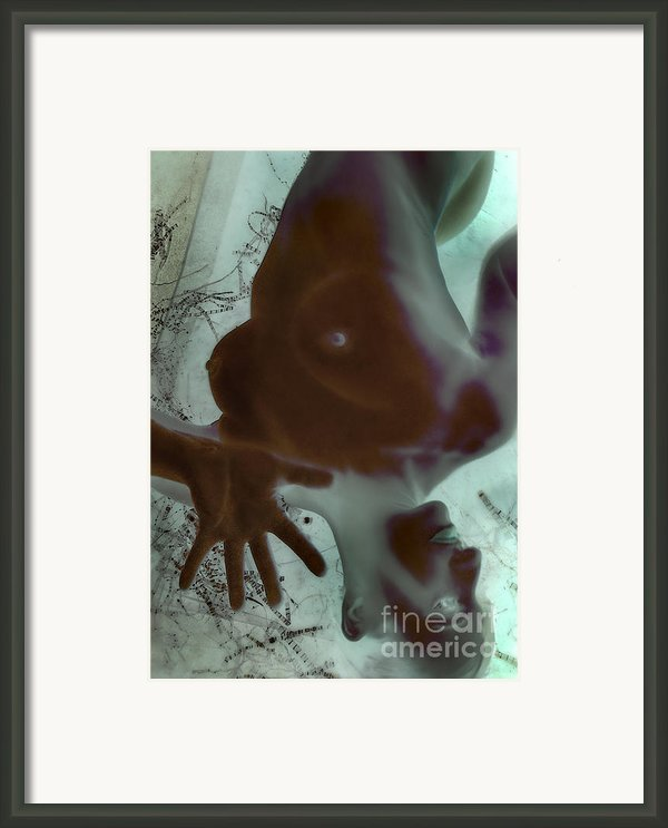 Infected Thoughts - Self Portrait  Framed Print By Jaeda Dewalt