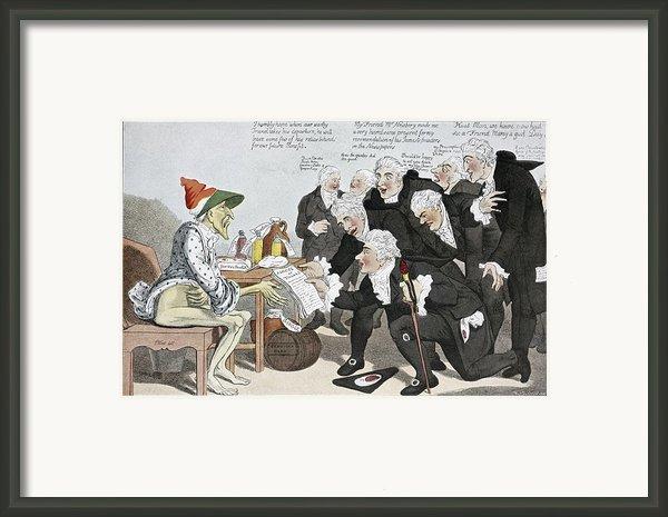 Influenza Epidemic, Satirical Artwork Framed Print By