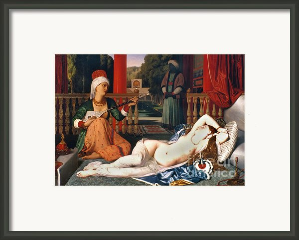 Ingres: Odalisque Framed Print By Granger
