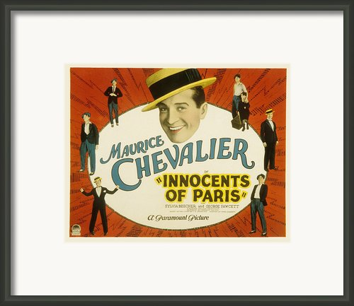 Innocents Of Paris, Maurice Chevalier Framed Print By Everett