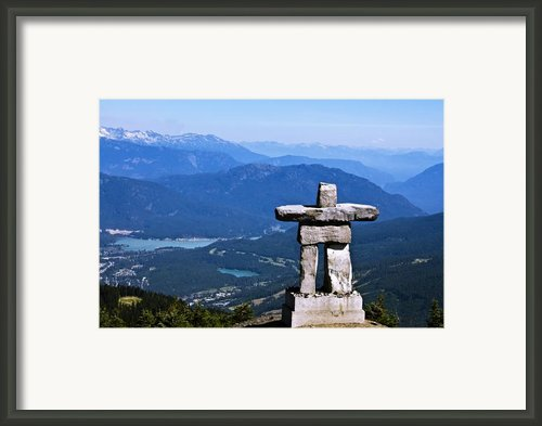 Innukshuk On Whistler Mountain Framed Print By Marion Mccristall