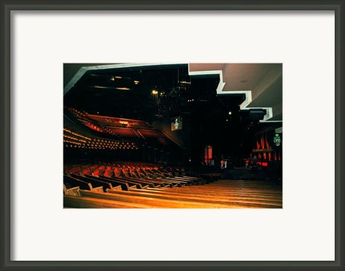 Inside Grand Ole Opry Nashville Framed Print By Susanne Van Hulst