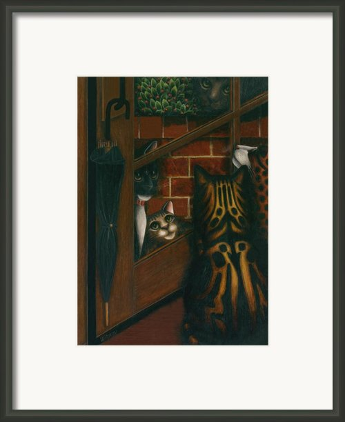 Inside Outside Cats Framed Print By Carol Wilson
