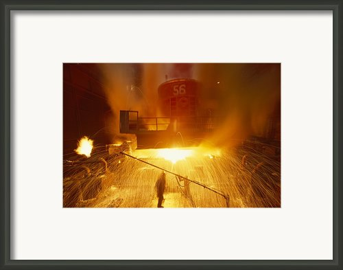 Inside The East-slovakian Steel Mill Framed Print By James L. Stanfield