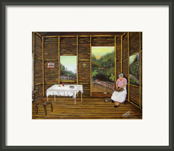 Inside Wooden Home Framed Print By Gloria E Barreto-rodriguez