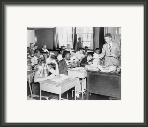 Integrated Classroom In Washington Framed Print By Everett
