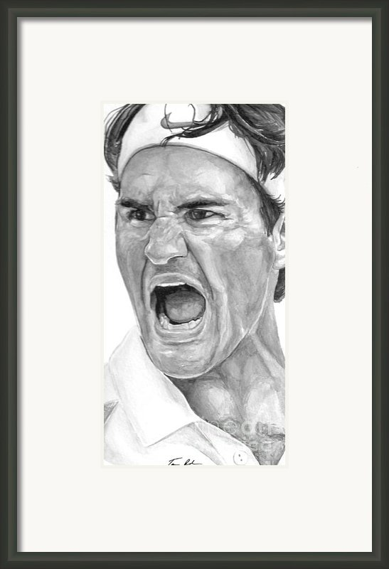 Intensity Federer Framed Print By Tamir Barkan