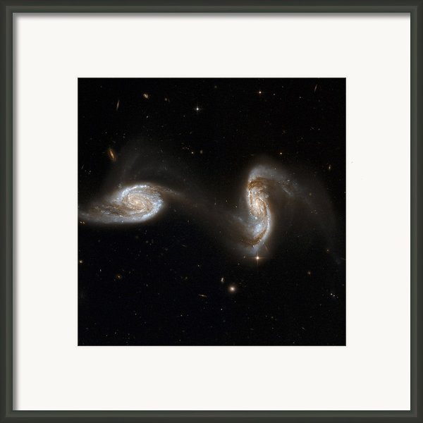 Interacting Galaxies Ngc 5257 And 5258 Framed Print By Stsciaurahubble Collaborationa. Evans (university Of Virginia, Charlottesville;nrao;stony Brook University)nasa