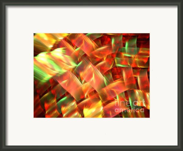 Interlocking Framed Print By Kim Sy Ok