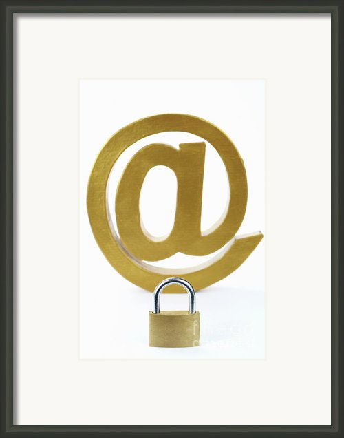 Internet Security Framed Print By Sami Sarkis