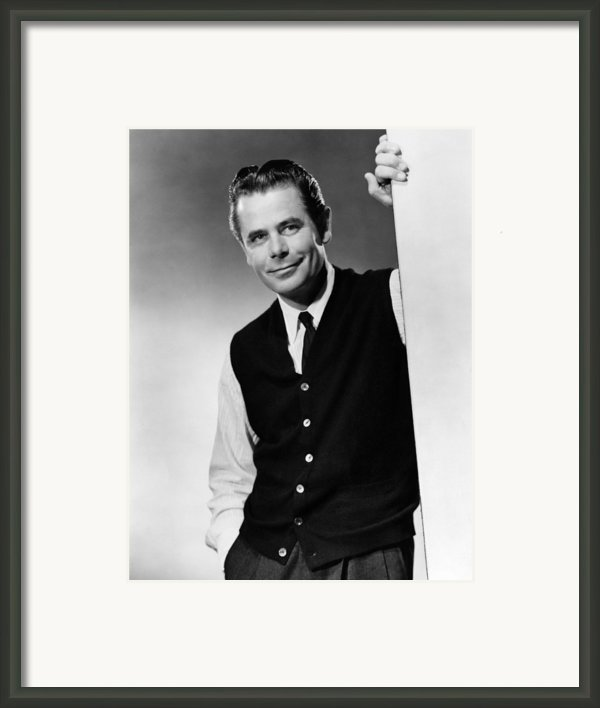 Interrupted Melody, Glenn Ford, 1955 Framed Print By Everett