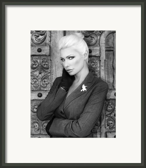Intrigue Bw Framed Print By William Dey