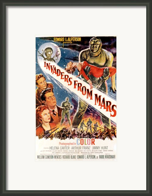 Invaders From Mars, Jimmy Hunt, Arthur Framed Print By Everett