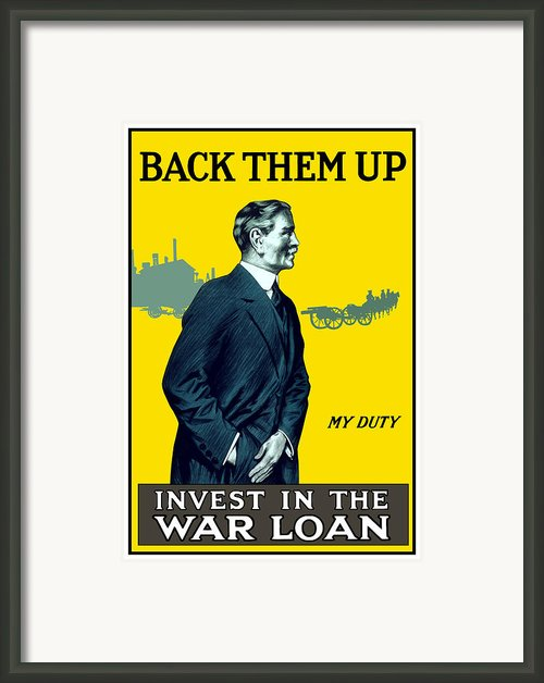 Invest In The War Loan Framed Print By War Is Hell Store