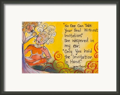 Invitation In Hand Framed Print By Ilisa  Millermoon