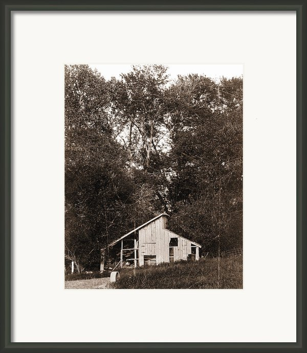 Iowa Shack Framed Print By Sleepy Weasel