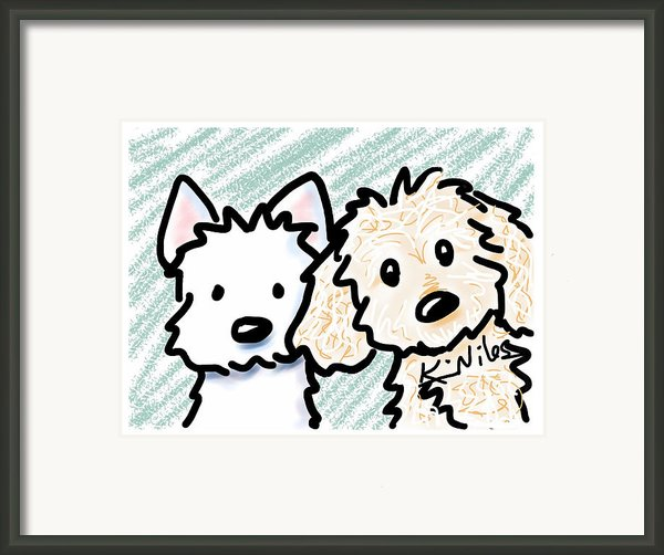 Ipaws Framed Print By Kim Niles