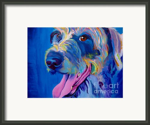 Irish Terrier - Lizzy Framed Print By Alicia Vannoy Call
