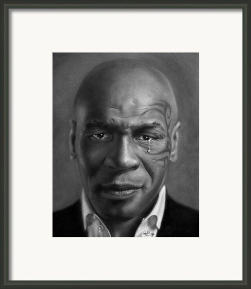 Iron Mike Tyson Drawing Framed Print By John Harding