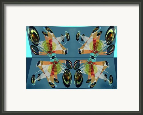 Irregular Mirrored Watches Framed Print By Helmut Rottler