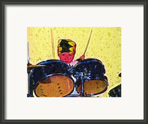 Isaiah The Drummer Framed Print By Deborah Macquarrie