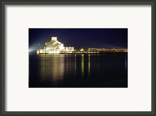 Islamic Museum At Night Framed Print By Paul Cowan