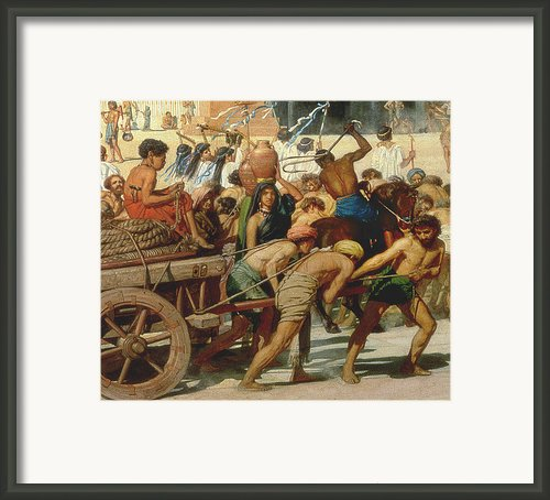 Israel In Egypt Framed Print By Sir Edward John Poynter