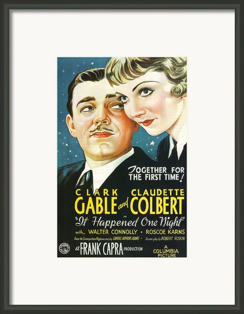 It Happened One Night Framed Print By Nomad Art And  Design
