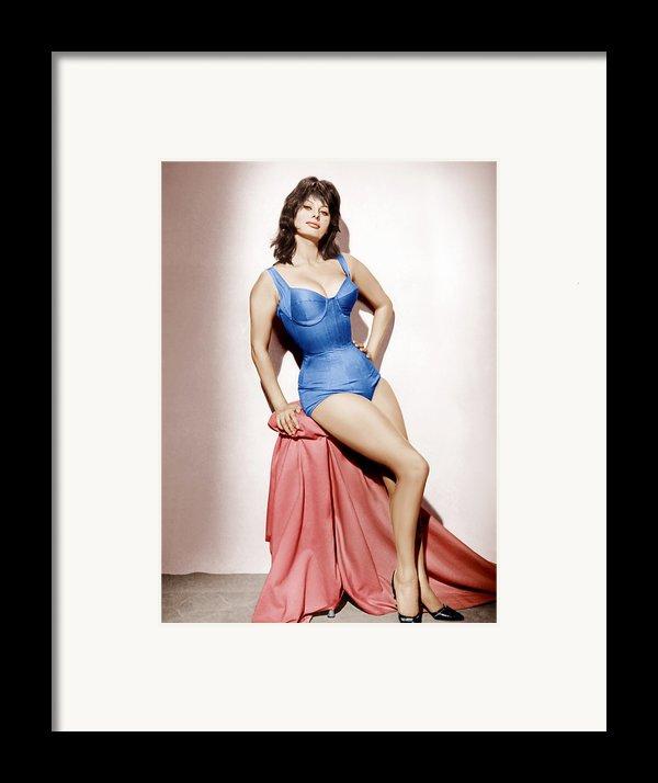 It Started In Naples, Sophia Loren, 1960 Framed Print By Everett