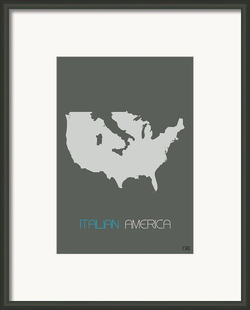 Italian America Poster Framed Print By Irina  March