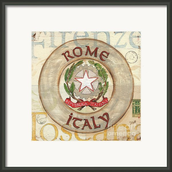 Italian Coat Of Arms Framed Print By Debbie Dewitt