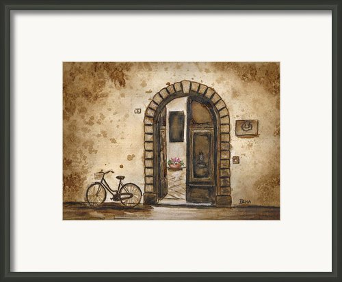 Italian Coffee Break Framed Print By Dianne  Ilka