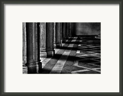 Italian Columns In Venice Framed Print By Mcdonald P. Mirabile