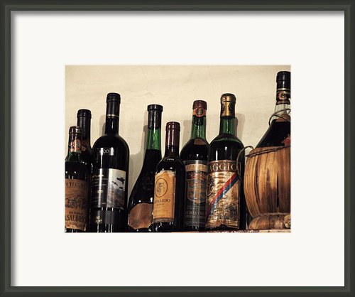 Italian Wine Framed Print By Marion Mccristall
