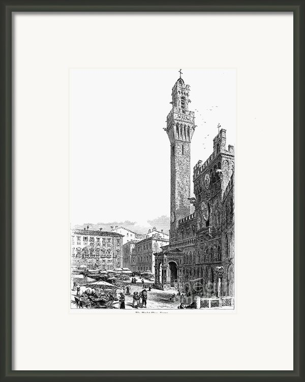 Italy: Siena, 19th Century Framed Print By Granger