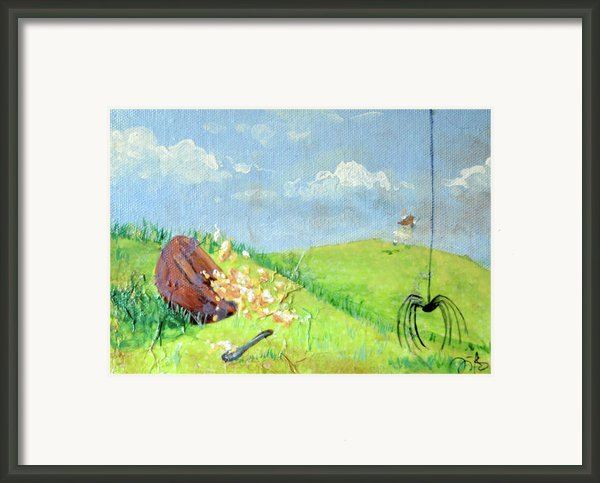Itsy Bitsy Spider Framed Print By Jennifer Kelly