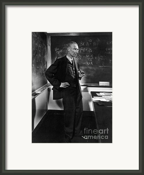 J. Robert Oppenheimer, American Framed Print By Science Source