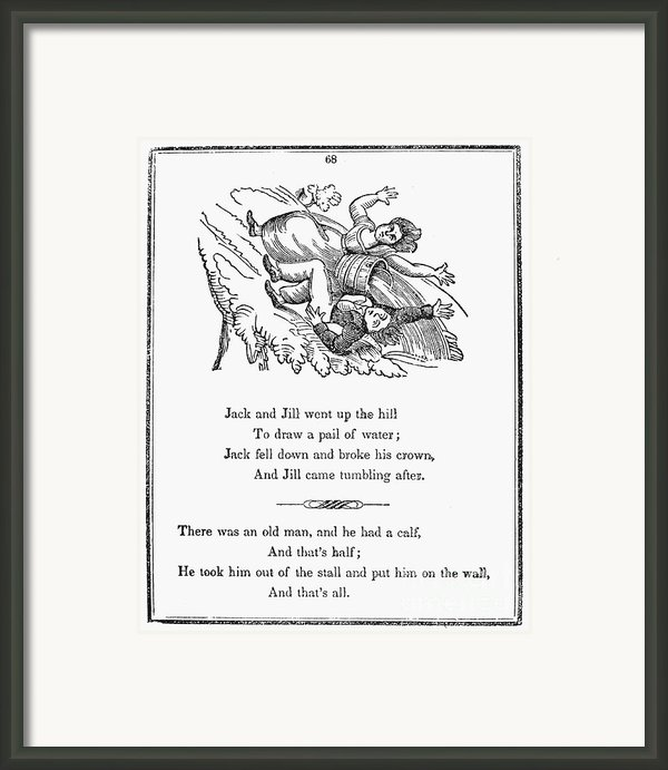 Jack And Jill, 1833 Framed Print By Granger