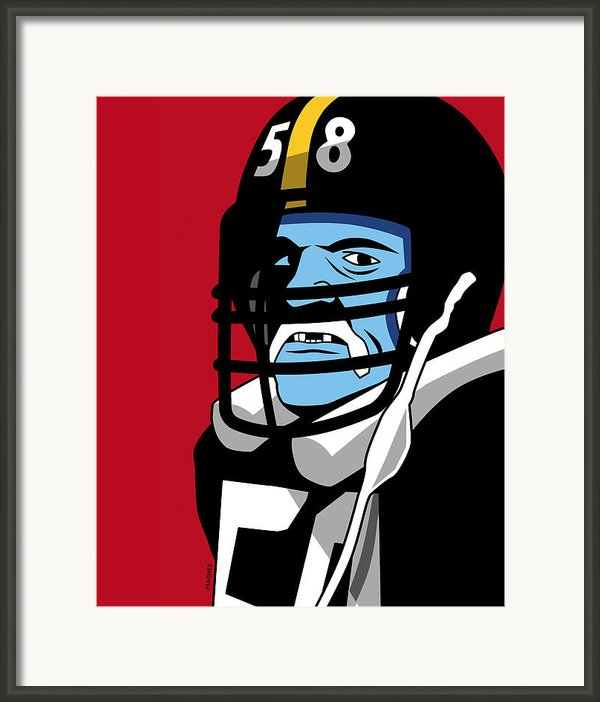 Jack Lambert Framed Print By Ron Magnes