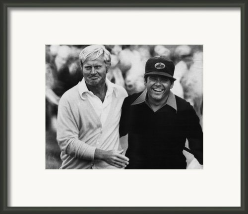 Jack Nicklaus, Lee Trevino, At The U.s Framed Print By Everett
