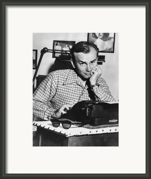 Jack Paar 1918-2004, American Radio Framed Print By Everett