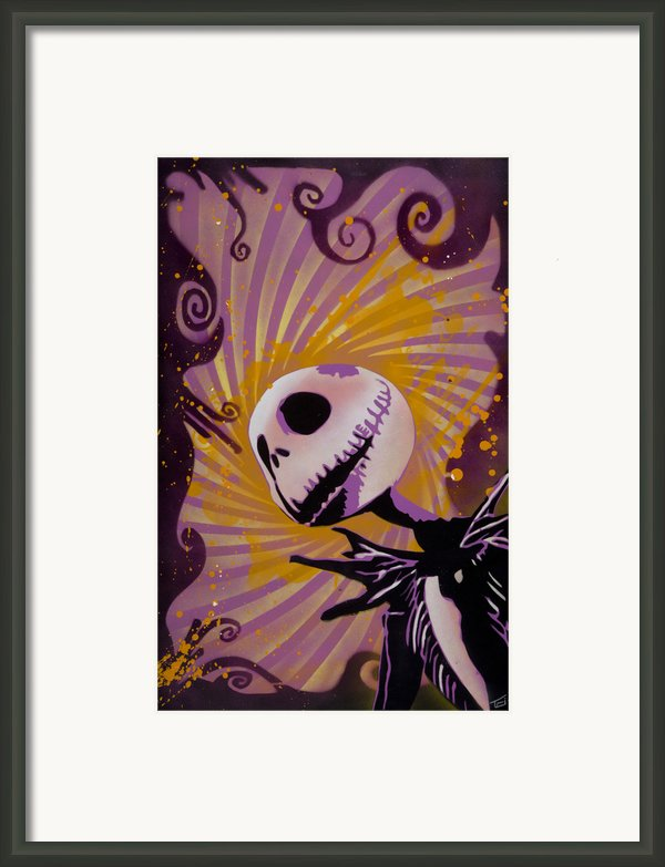 Jack Skellington Framed Print By Iosua Tai Taeoalii