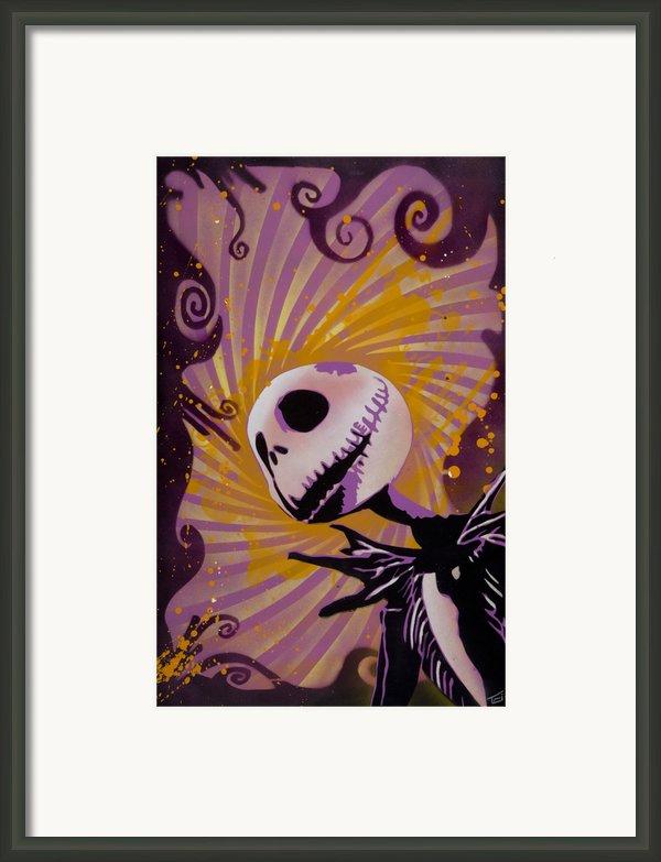 Jack Skellington Framed Print By Iosua Tai Taeoalii