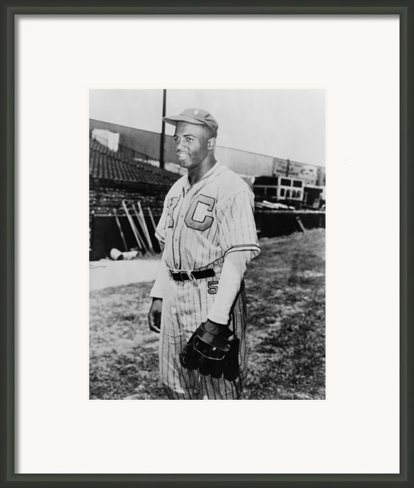 Jackie Robinson 1919-1972 In Kansas Framed Print By Everett