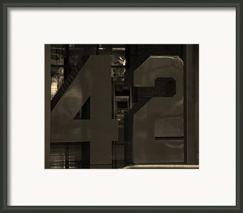 Jackie Robinson 42 In Sepia Framed Print By Rob Hans